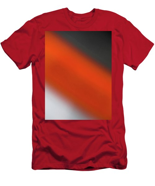 Gray Orange Grey Men's T-Shirt (Slim Fit) by CML Brown