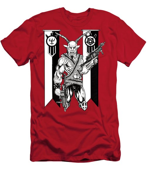 Great Goat War Men's T-Shirt (Athletic Fit)