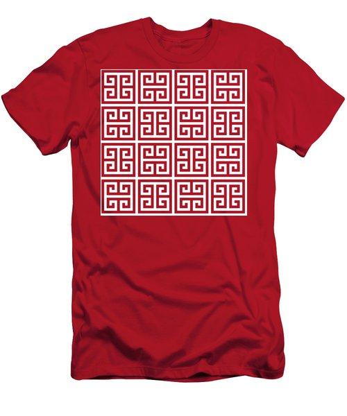 Greek Pattern 2 Men's T-Shirt (Athletic Fit)