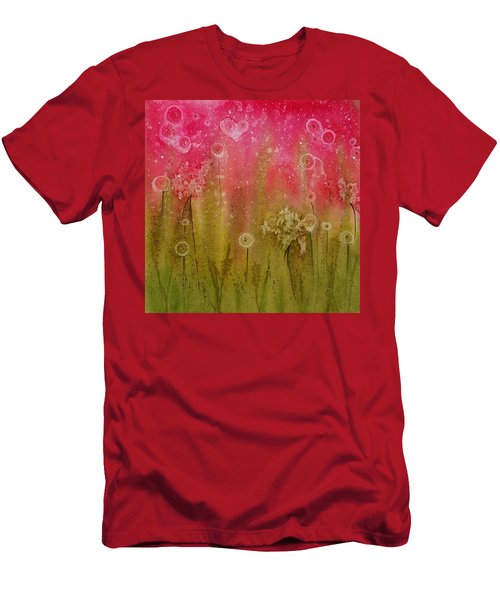 Green Abstract Men's T-Shirt (Athletic Fit)