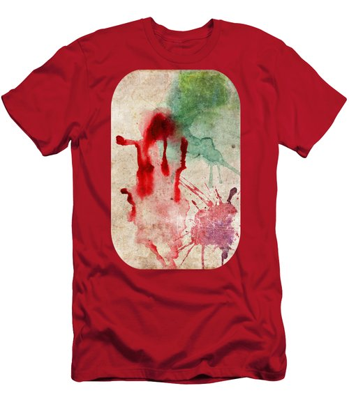 Green And Red Color Splash Men's T-Shirt (Athletic Fit)