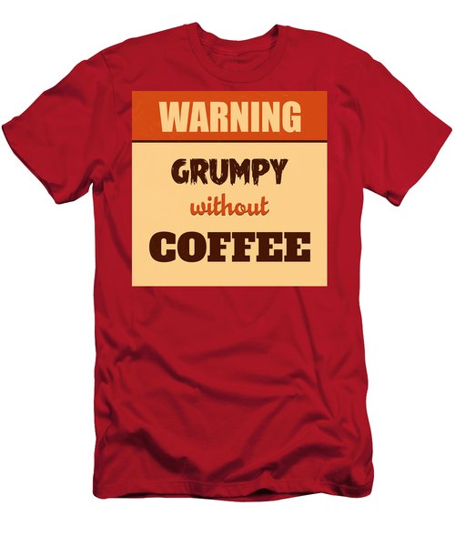 Grumpy Without Coffee Men's T-Shirt (Athletic Fit)