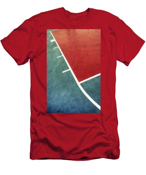 Men's T-Shirt (Athletic Fit) featuring the photograph Grunge On The Basketball Court by Gary Slawsky