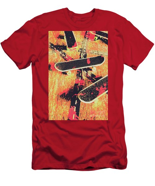 Grunge Skate Art Men's T-Shirt (Athletic Fit)