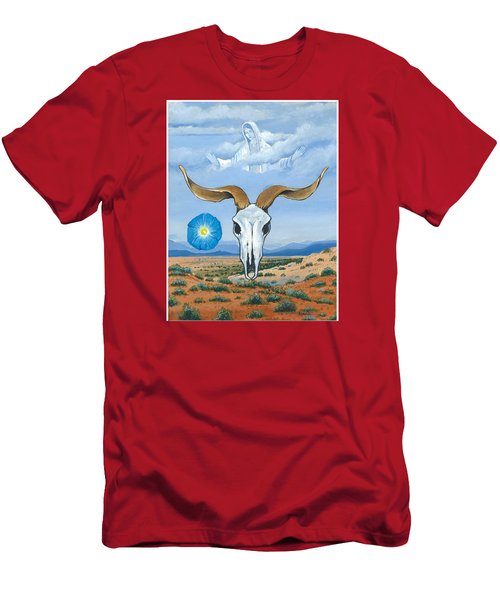 Guadalupe Visits Georgia O'keeffe Men's T-Shirt (Slim Fit) by James Roderick