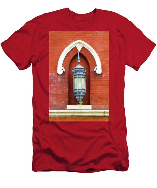 Guiding Light At The Mother Church Men's T-Shirt (Slim Fit) by Sandy MacGowan