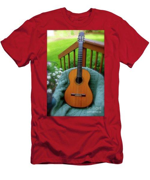 Guitar Awaiting Men's T-Shirt (Athletic Fit)