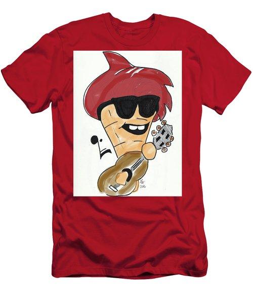 Guitar Ice Cream Men's T-Shirt (Athletic Fit)