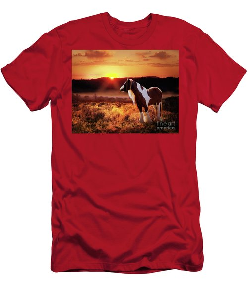 Men's T-Shirt (Athletic Fit) featuring the digital art Gypsy Sunset by Melinda Hughes-Berland