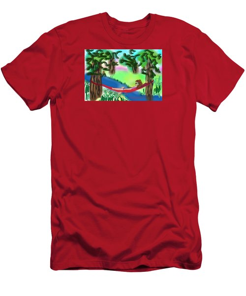 Hammock Under The Chihuahua Trees Men's T-Shirt (Athletic Fit)