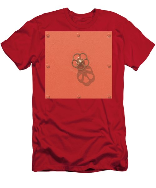 Handwheel - Orange Men's T-Shirt (Athletic Fit)