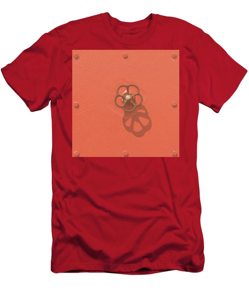 Handwheel - Orange Men's T-Shirt (Athletic Fit)