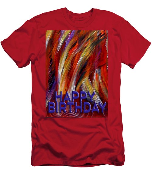 Happy Birthday  Men's T-Shirt (Athletic Fit)