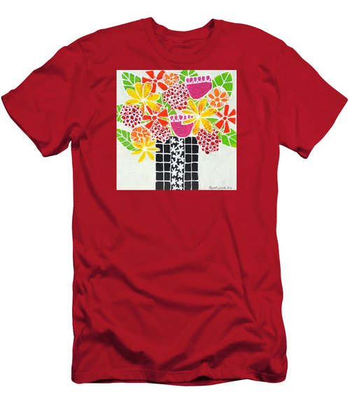 Happy Flowers Men's T-Shirt (Athletic Fit)