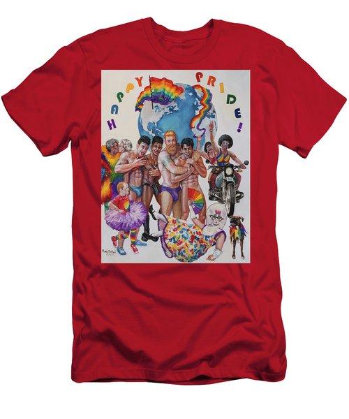 Happy Pride Men's T-Shirt (Athletic Fit)