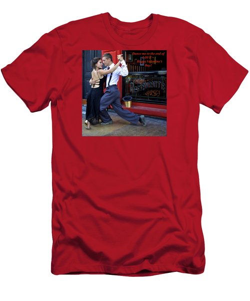 Happy Valentine's Day Men's T-Shirt (Slim Fit) by Venetia Featherstone-Witty