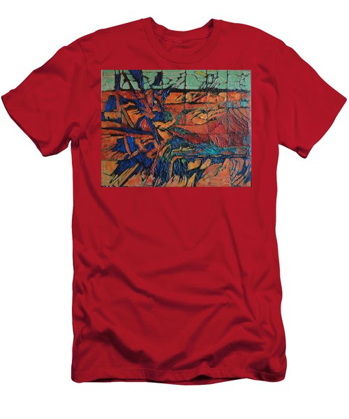 Men's T-Shirt (Slim Fit) featuring the painting Harbingers by Bernard Goodman