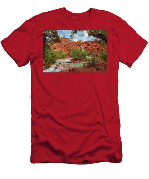 Havasupai Falls Pools Men's T-Shirt (Athletic Fit)