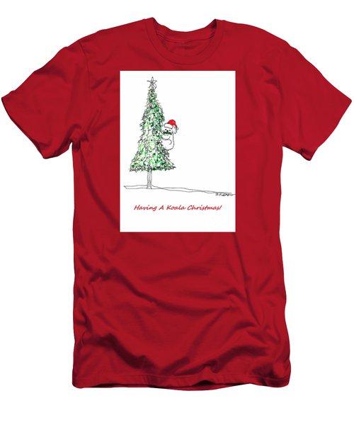 Having A Koala Christmas Men's T-Shirt (Slim Fit) by Denise Fulmer
