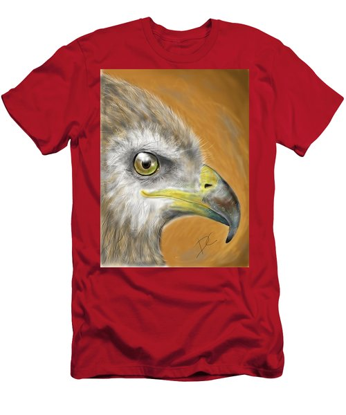 Men's T-Shirt (Athletic Fit) featuring the digital art Hawk by Darren Cannell