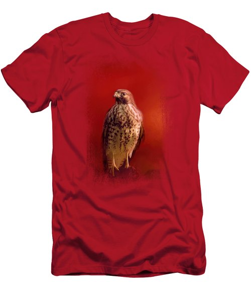 Hawk On A Hot Day Men's T-Shirt (Slim Fit) by Jai Johnson