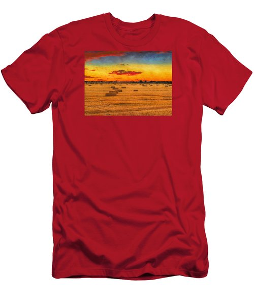 Hay Fields Men's T-Shirt (Slim Fit) by Greg Norrell