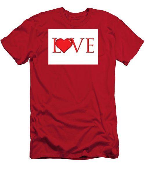 Heart Love Men's T-Shirt (Athletic Fit)