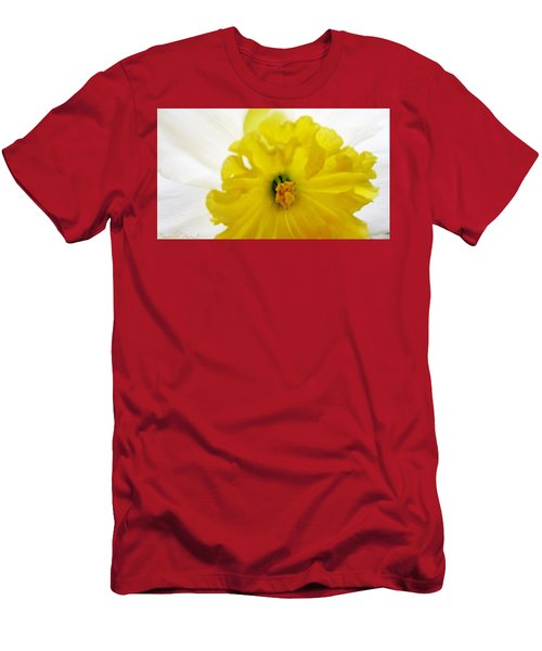 Heart Of A Daffodil  Men's T-Shirt (Athletic Fit)