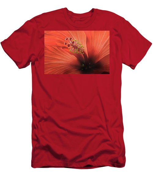 Heart Of Hibiscus Men's T-Shirt (Athletic Fit)