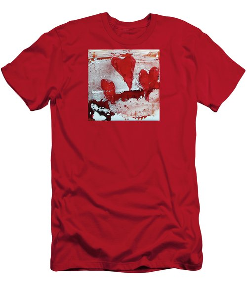 Hearts Afire Men's T-Shirt (Athletic Fit)