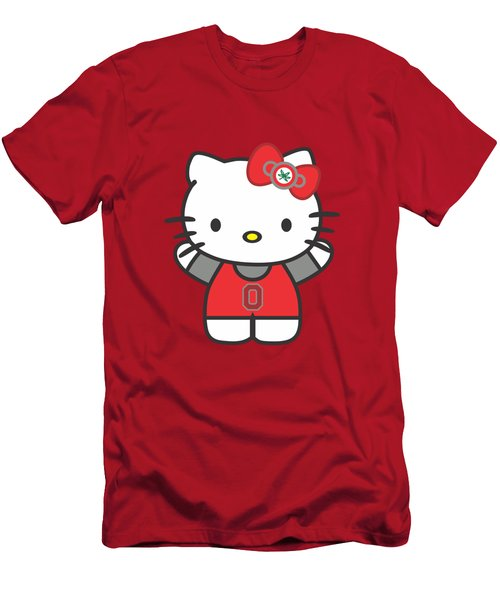 Hello Kitty - Ohio State Men's T-Shirt (Athletic Fit)