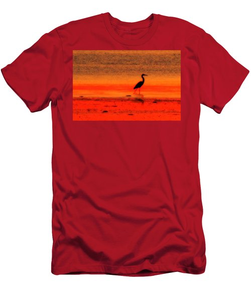 Heron At Dawn Men's T-Shirt (Athletic Fit)