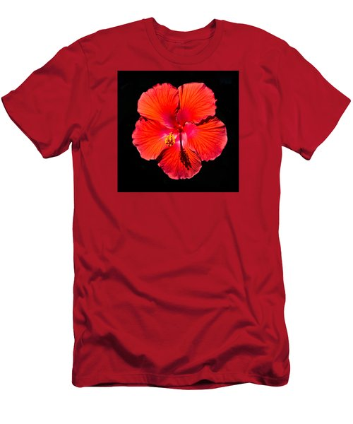 Hibiscus Flower Men's T-Shirt (Athletic Fit)