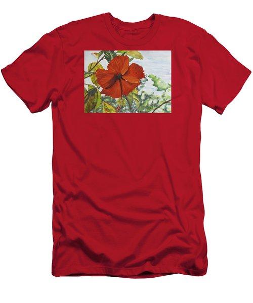 Hibiscus St Thomas Men's T-Shirt (Slim Fit) by Carol Flagg