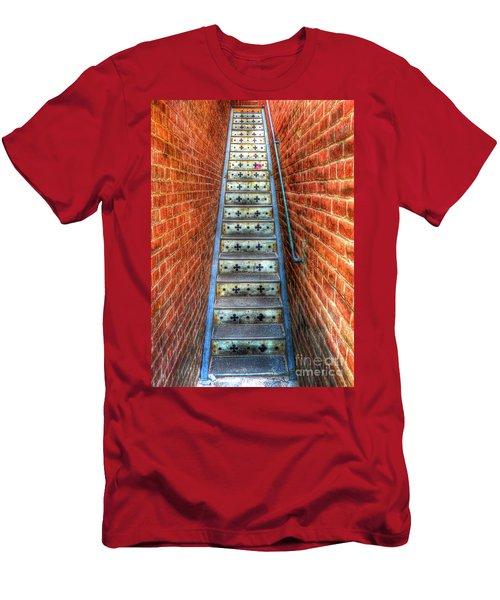 Hidden Stairway In Old Bisbee Arizona Men's T-Shirt (Athletic Fit)