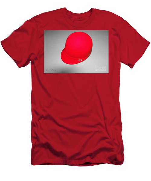 Hints Of Red - Hat Men's T-Shirt (Athletic Fit)