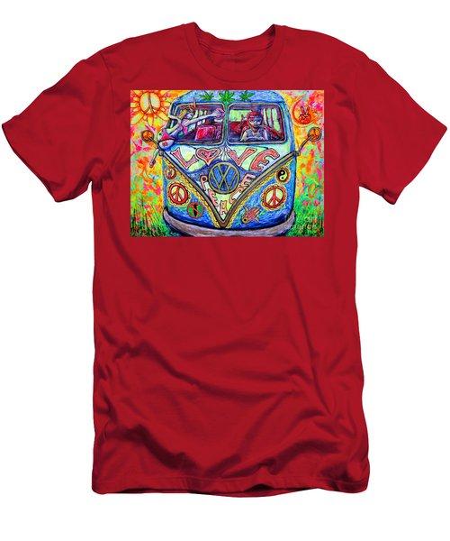 Hippie Men's T-Shirt (Slim Fit) by Viktor Lazarev
