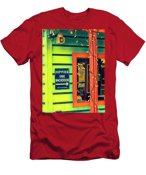 Hippies Use Backdoor Men's T-Shirt (Athletic Fit)