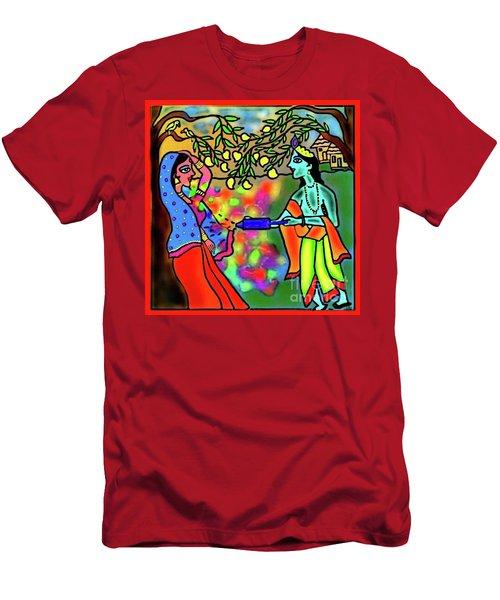 Holi Men's T-Shirt (Slim Fit) by Latha Gokuldas Panicker