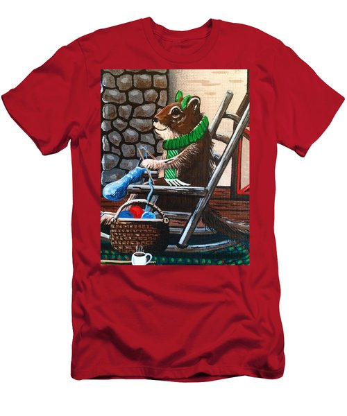 Holiday Knitting Men's T-Shirt (Athletic Fit)