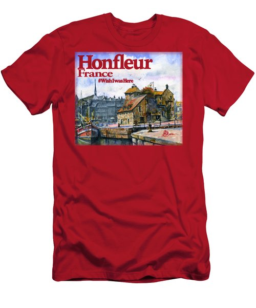 Honfleur France Shirt Men's T-Shirt (Athletic Fit)