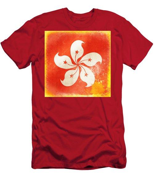 Hong Kong China Flag Men's T-Shirt (Athletic Fit)