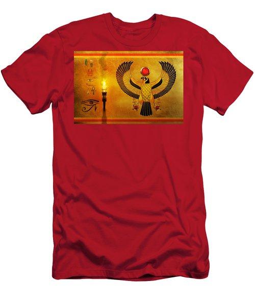 Horus Falcon God Men's T-Shirt (Athletic Fit)
