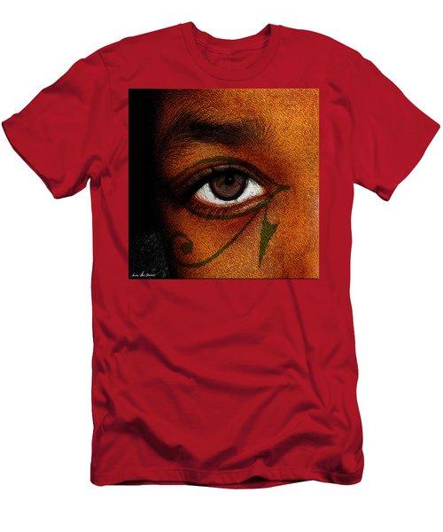 Men's T-Shirt (Slim Fit) featuring the digital art Hru's Eye by Iowan Stone-Flowers