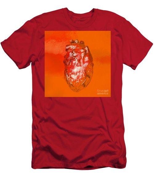 Human Heart In Digital Art Men's T-Shirt (Athletic Fit)