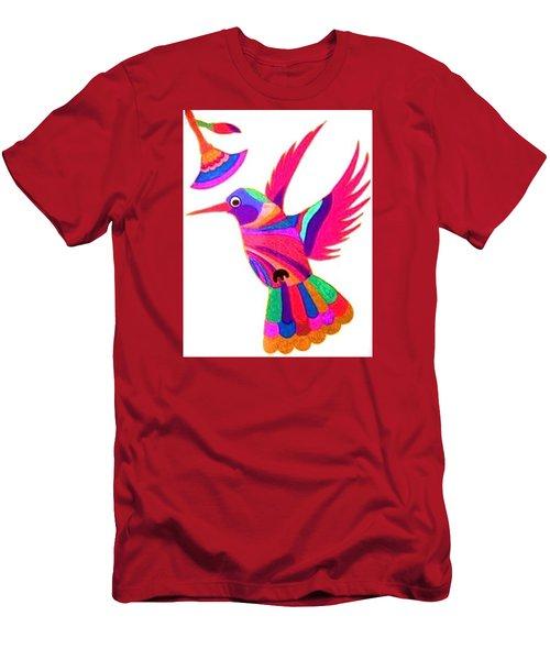 Humming Bird Men's T-Shirt (Slim Fit) by Kruti Shah