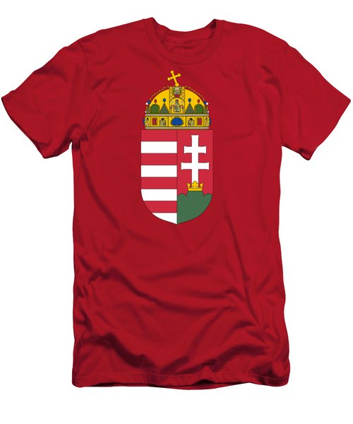 Hungary Coat Of Arms Men's T-Shirt (Slim Fit) by Movie Poster Prints