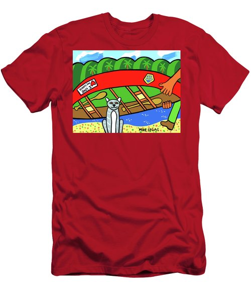 I Love My Canoe Men's T-Shirt (Athletic Fit)