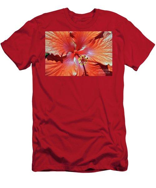 I Love Orange Flowers 2 Men's T-Shirt (Slim Fit) by Lydia Holly