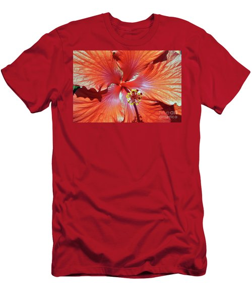 I Love Orange Flowers 2 Men's T-Shirt (Athletic Fit)